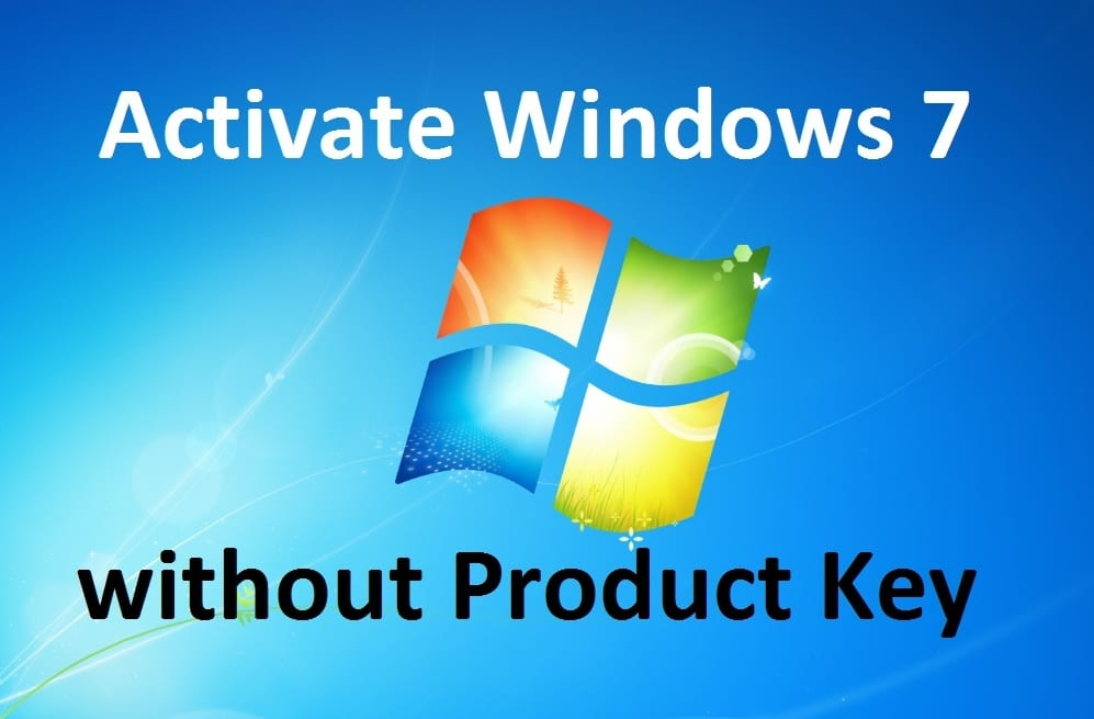 activate windows 7 without a product key