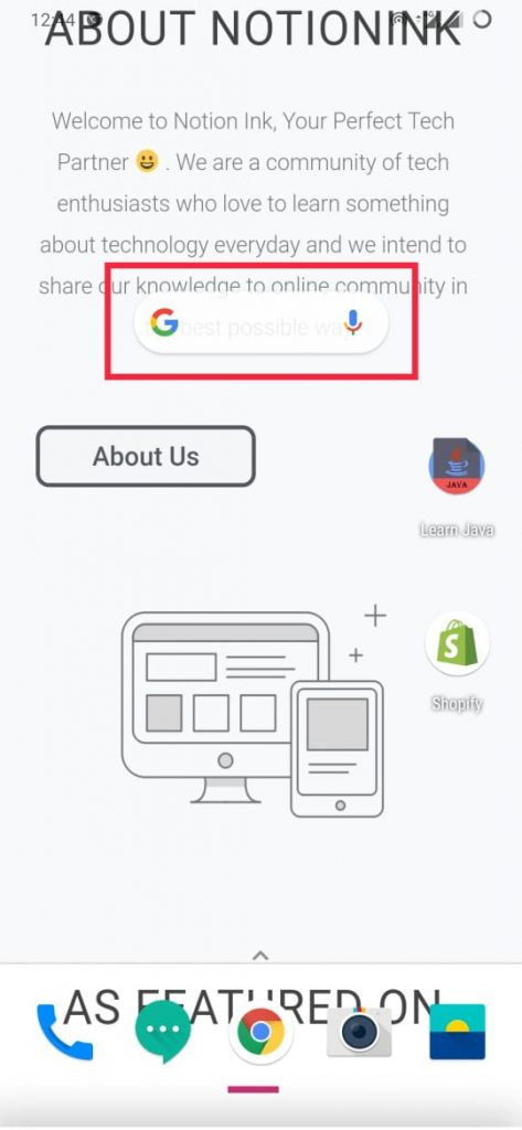 how to add google search bar